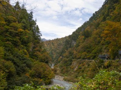 Fall Foliage at Kurobe Gorge